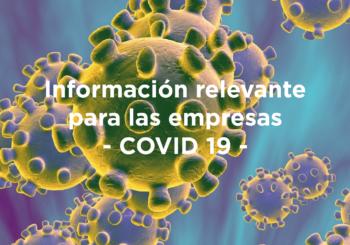 Coronavirus: información relevante para las empresas